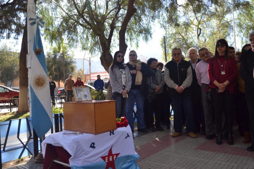 Acto en homenaje por la restitución de los restos de Juan Carreras a Belén.