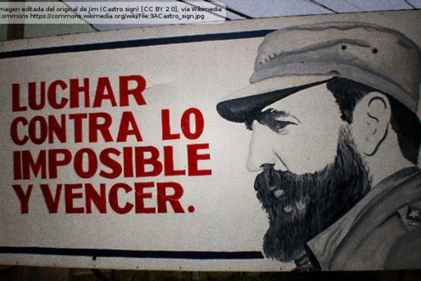 Cartel con la cara de Fidel Castro