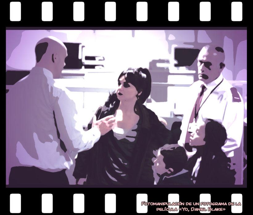 fotograma de la película Yo, Daniel Blake; modificado.