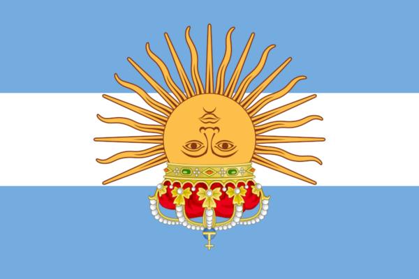 Argentina con corona al revés