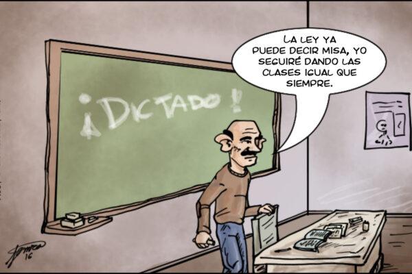 Educación y maestros (tira)