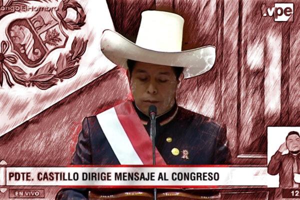 Primer discurso de Castillo (foto editada)